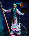 English Touring Opera presents THE TALES OF HOFFMANN, at the Britten Theatre, Royal College of Music. Written by Jacques Offenbach, with libretto by Jules Barbier, this production is directed by James Bonas. Picture shows: Sam Furness (Hoffmann), Louise Mott (Nicklausse)