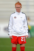Boyds MD - April 19, 2014: Tori Huster (23) of the Washington Spirit.The Washington Spirit defeated the FC Kansas City 3-1 during a regular game of the 2014 season of the National Women's Soccer League at the Maryland SoccerPlex.