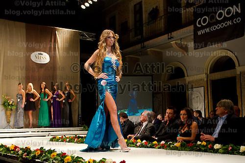 Ivett Venczlik attends the Miss Hungary 2010 beauty contest held in Budapest, Hungary on November 29, 2010. ATTILA VOLGYI