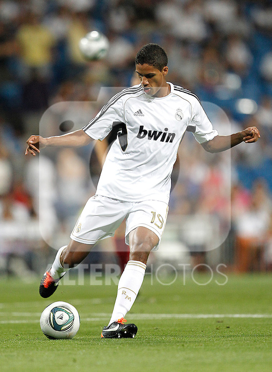 Real Madrid's Raphael Varane during Santiago Bernabeu Cup on august 24th 2011...Photo: Cesar Cebolla / ALFAQUI