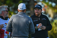 Shane Lowry (IRL) chats with Graeme McDowell (NIR) as they wait to tee off on 2 during round 1 of the Arnold Palmer Invitational at Bay Hill Golf Club, Bay Hill, Florida. 3/7/2019.<br /> Picture: Golffile | Ken Murray<br /> <br /> <br /> All photo usage must carry mandatory copyright credit (&copy; Golffile | Ken Murray)