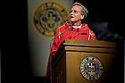 Aug. 27, 2013; University President Rev. John Jenkins, C.S.C. gives the homily at the 2013 Opening Mass.<br /> <br /> Photo by Matt Cashore/University of Notre Dame