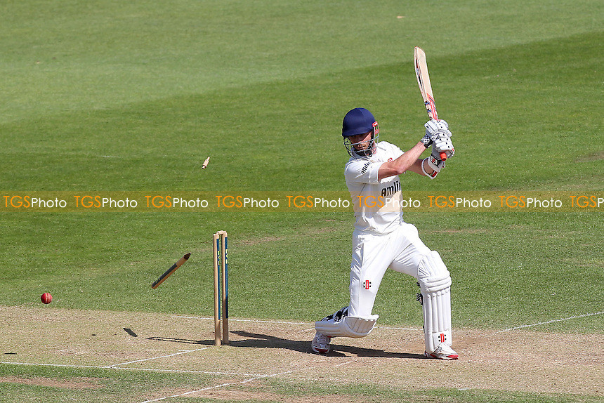 James Foster of Essex is bowled out by Sean Ervine - Hampshire CCC vs Essex CCC - LV County Championship Division Two Cricket at the Ageas Bowl, West End, Southampton - 17/06/14 - MANDATORY CREDIT: Gavin Ellis/TGSPHOTO - Self billing applies where appropriate - 0845 094 6026 - contact@tgsphoto.co.uk - NO UNPAID USE