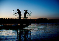 Day one the U.S. Open Bowfishing Championship including a trip onto the lake with Nick Wright (cq), and Rich Porter (cq), Friday, May 2, 2014. The event is hosted and sponsored by Bass Pro Shops.<br /> <br /> Photo by Matt Nager