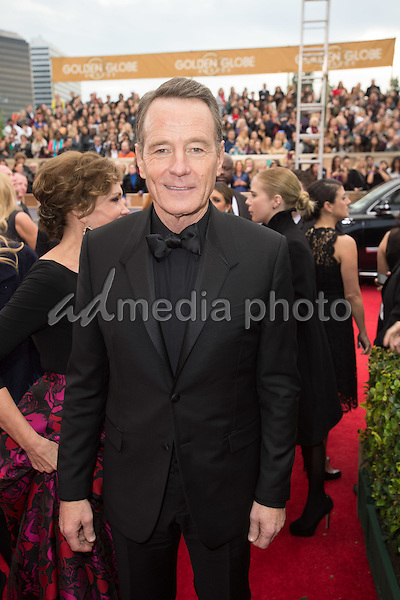 "Bryan Cranston, Golden Globe Nominee for BEST PERFORMANCE BY AN ACTOR IN A MOTION PICTURE - DRAMA for ""Trumbo"", arrives at the 73rd Annual Golden Globe Awards at the Beverly Hilton in Beverly Hills, CA on Sunday, January 10, 2016. Photo Credit: HFPA/AdMedia"
