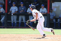 Nolan Bumstead (39) of the Cal State Northridge Matadors bats during a game against the UC Santa Barbara Gouchos at Matador Field on April 10, 2015 in Northridge, California. UC Santa Barbara defeated Cal State Northridge, 7-4. (Larry Goren/Four Seam Images)