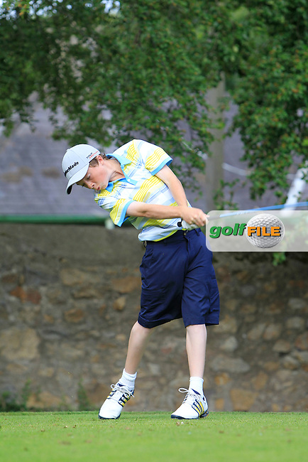 Liam Dowling (Mallow) on the 2nd tee during Round 1 of the Grange Dublin Boys on Monday 21th July 2014.<br /> Picture:  Thos Caffrey / www.golffile.ie