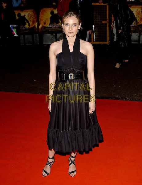 "DIANE KRUGER.""National Treasure"" premiere.Odeon West End Cinema.London 5 December 2004..full length black dress belt belted strappy shoes.Ref: PL.www.capitalpictures.com.sales@capitalpictures.com.©Capital Pictures..."