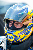Jun 8, 2019; Topeka, KS, USA; NHRA funny car driver Ron Capps during qualifying for the Heartland Nationals at Heartland Motorsports Park. Mandatory Credit: Mark J. Rebilas-USA TODAY Sports