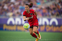 Orlando, FL - Sunday June 26, 2016: Hayley Raso  during a regular season National Women's Soccer League (NWSL) match between the Orlando Pride and the Portland Thorns FC at Camping World Stadium.