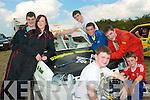 0564-0567.---------.Brake Hard.----------.Having the craic at the Irish HotRod motor racing Federation Championship 2010 were Owen,Gavin,Steven,Yvonne,Kevin and Sean Relihan and Kevin Jewitt.