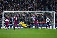Manchester City's Ilkay Gundogan scores his side's second goal from the penalty spot <br /> <br /> Photographer Craig Mercer/CameraSport<br /> <br /> The Premier League - Tottenham Hotspur v Manchester City - Saturday 14th April 2018 - Wembley Stadium - London<br /> <br /> World Copyright &copy; 2018 CameraSport. All rights reserved. 43 Linden Ave. Countesthorpe. Leicester. England. LE8 5PG - Tel: +44 (0) 116 277 4147 - admin@camerasport.com - www.camerasport.com