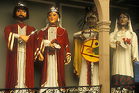 Giant papier mache figures or gigantes in the Museo Nacional de la Mascara or National Museum of the Mask, San Luis Potosi, Mexico