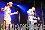 Twist and Pulse from London performing before Jedward on Denny Street stage on Friday.