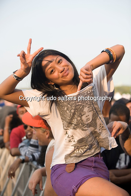 Guest Attends the 8th Annual Rock The Bells Held on Governors Island, NY  9/3/11