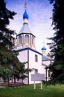 Kenai, Kenai Peninsula Borough, Alaska, USA - Holy Assumption of the Virgin Mary Russian Orthodox Church (aka Church of the Assumption of the Virgin Mary), a US National Historic Landmark