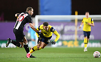 4th February 2020; Kassam Stadium, Oxford, Oxfordshire, England; English FA Cup Football; Oxford United versus Newcastle United; Florian Lejeune of Newcastle tackles Marcus Browne of Oxford