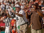 Browns head coach Butch Davis on Sunday, September 21, 2003, in San Francisco, California. The Browns defeated the 49ers 13-12.