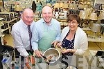 Tim Stephenson giving a Prestige cookery demonstration in Shaws, Tralee on Wednesday. Tim showed customers how to do one pot meals in eight minutes. Pictured, from left: Stephen Pike (manager of Shaws), Tim Stephenson and Niamh O'Shea.