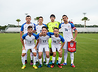 Lakewood Ranch, FL - Sunday July 23, 2017: USA starters during an international friendly match between the paralympic national teams of the United States (USA) and Canada (CAN) at Premier Sports Campus at Lakewood Ranch.