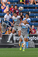 Bridgeview, IL - Sunday September 03, 2017: Abby Erceg, Jaelene Hinkle, Yuki Nagasato during a regular season National Women's Soccer League (NWSL) match between the Chicago Red Stars and the North Carolina Courage at Toyota Park. The Red Stars won 2-1.