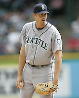 Seattle Mariners P Sean Green against the Texas Rangers on May 14th, 2008 at Texas Rangers Ball Park. Photo by Andrew Woolley / Four Seam Images.