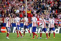 Griezmann of Atletico de Madrid scores during Champios Legue soccer match between Atletico de Madrid V Malmoe al Vicente Calderon Stadium. October 22, 2014. (ALTERPHOTOS/Caro Marin)