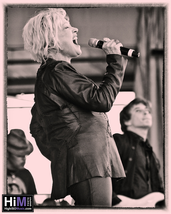 Cyndi Lauper plays at Jazz Fest 2011 in New Orleans on day 4, with Charlie Musselwhite on harmonica.