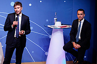 Luigi Di Maio and Alessandro di Battista<br /> Rome January 22nd 2019. Convention of the Movement 5 Stars party to explain the Basic Income Law just approved.<br /> Foto Samantha Zucchi Insidefoto