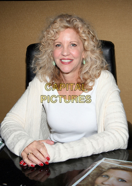 NANCY ALLEN.2010 Chiller Theatre Expo Toy, Model and Film Expo held at the Hilton Hotel Parsippany,  New Jersey, Parsippany, New Jersey, USA..October 30th, 2010.half length  white top red nail varnish polish.CAP/ADM/PZ.©Paul Zimmerman/AdMedia/Capital Pictures.