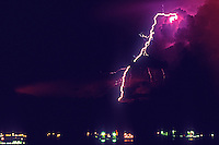Thunderstorm over Manila bay, Philippines