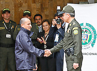 Hostages freed after being held for more than a decade by FARC rebels during a press conference in Bogota, Colombia. 03/04/2012. Photo by Nestor Silva /VIEWpress.