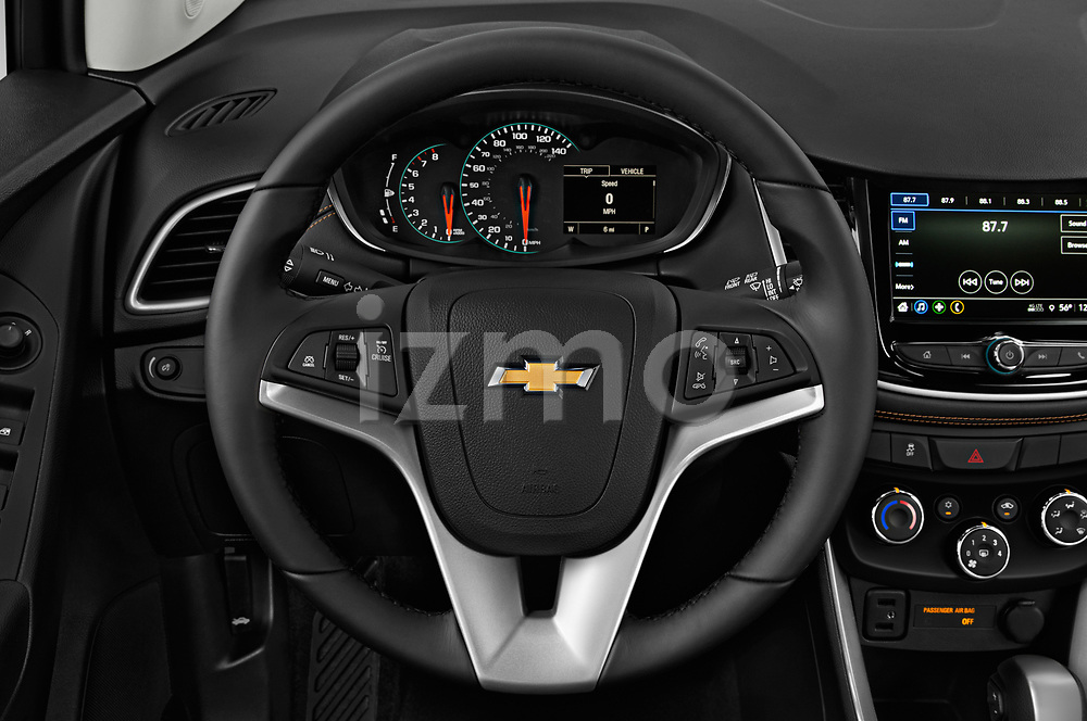 Car pictures of steering wheel view of a 2019 Chevrolet Trax Premier 5 Door SUV