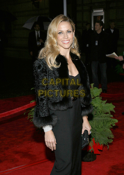 SHERYL CROW.31st Annual People's Choice Awards held at the Pasadena Civic Auditorium. .January 9th, 2004.Photo Credit: Jacqui Wong/AdMedia..half length  dangling diamond earrings black fur trim coat jacket.www.capitalpictures.com.sales@capitalpictures.com.© Capital Pictures.