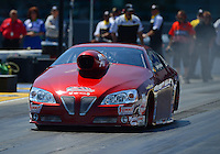 Apr. 13, 2012; Concord, NC, USA: NHRA pro stock driver Warren Johnson during qualifying for the Four Wide Nationals at zMax Dragway. Mandatory Credit: Mark J. Rebilas-