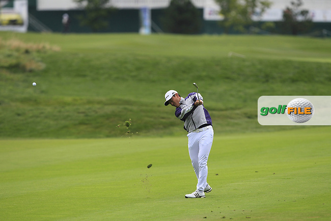 Daniel Im (USA) on the 1st fairway during Round 4 of the D+D Real Czech Masters 2016 at the Albatross Golf Club, Prague on Sunday 21st August 2016.<br /> Picture:  Thos Caffrey / www.golffile.ie<br /> <br /> All photos usage must carry mandatory copyright credit   (&copy; Golffile | Thos Caffrey)