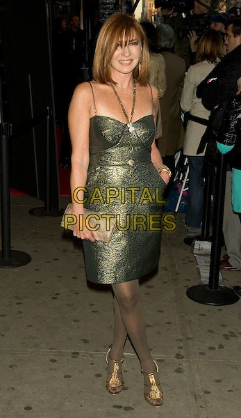 "NICOLE MILLER.Special Screening of ""The Life Before Her Eyes"".at the IFC Center, New York, NY, USA..April 15th, 2008.full length green metallic dress gold shoes black stockings clutch bag .CAP/LNC/TOM.©TOM/LNC/Capital Pictures."