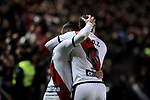 Rayo Vallecano's Adrian Embarba (L) and R. D. T. (R) during Liga match between Rayo Vallecano and FC Barcelona at Vallecas Stadium in Madrid, Spain. November 03, 2018. (ALTERPHOTOS/A. Perez Meca)
