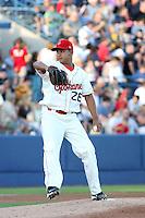 Spokane Indians pitcher Juan Grullon #26 during a game vs. the Eugene Emeralds at Avista Stadium in Spokane, Washington, on August 20, 2010. Photo By Robert Gurganus/Four Seam Images