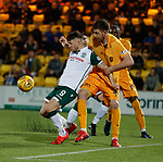 29.03.2019 Livingston v Hibs: Marc McNulty and Declan Gallagher grapple