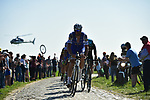 Tom Boonen (BEL) Quick-Step Floors on pave sector 17 Hornaing to Wandignies during the 115th edition of the Paris-Roubaix 2017 race running 257km Compiegne to Roubaix, France. 9th April 2017.<br /> Picture: ASO/P.Ballet | Cyclefile<br /> <br /> <br /> All photos usage must carry mandatory copyright credit (&copy; Cyclefile | ASO/P.Ballet)