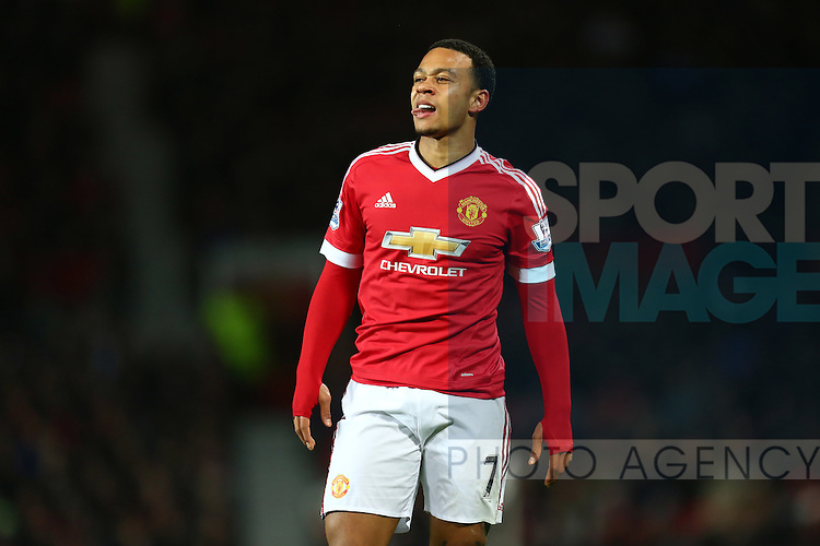 A dejected Memphis Depay of Manchester United following a missed chance - Barclay's Premier League - Manchester United vs Watford - Old Trafford - Manchester - 02/03/2016 Pic Philip Oldham/SportImage