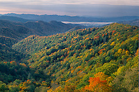Shot Beech Ridge and Deep Creek Valley<br />
