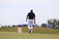 Rickie Fowler (USA) on the 6th green during Friday's Round 2 of the 117th U.S. Open Championship 2017 held at Erin Hills, Erin, Wisconsin, USA. 16th June 2017.<br /> Picture: Eoin Clarke | Golffile<br /> <br /> <br /> All photos usage must carry mandatory copyright credit (&copy; Golffile | Eoin Clarke)