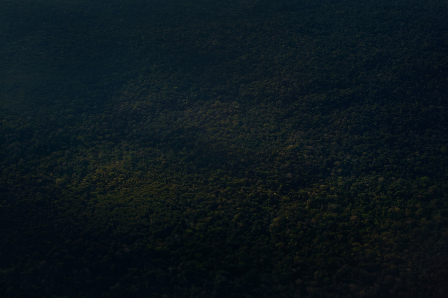 Iquitos, Peru, September 13, 2013 - An aerial view of the Amazon near Iquitos.