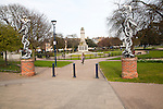 Entrance to St George's park, Great Yarmouth, Norfolk, England