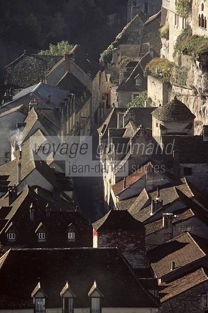 Europe/France/Midi-Pyrénées/46/Lot/Causse de Rocamadour/Rocamadour: Le village
