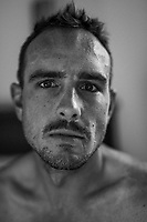 John Degenkolb (DEU/Trek-Segafredo) in his shotel room (next to the finish) emmediatly after the stage<br /> <br /> Stage 11: Albertville > La Rosière / Espace San Bernardo (108km)<br /> <br /> 105th Tour de France 2018<br /> ©kramon