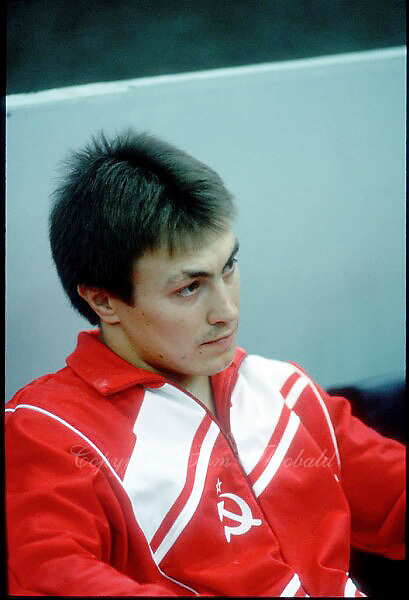 July 23, 1986; Moscow, Soviet Union; Portrait is of artistic gymnast Yuri Balabanov of Soviet Union on sidelines at 1986 Goodwill Games Moscow..(©) Copyright 1986 Tom Theobald