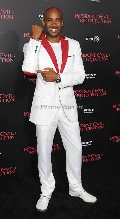 Boris Kodjoe at the Los Angeles premiere of Resident Evil Retribution held at Regal Cinemas LA. LIVE, Los Angeles CA. September 12, 2012